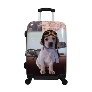 Chariot Oldies Doggie 20-Inch Hardside Lightweight Upright Spinner Carry-On Suitcase