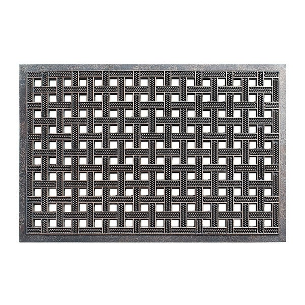 A1HC First Impression Estate 24 In. X 36 In. Rubber Stud Doormat with Copper Finish