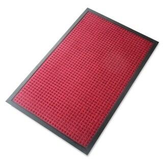 "A1HC Rub-Poly Multi Utility Indoor/Outdoor 24"" X 36"" Scraper Doormat (Red)"