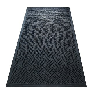 A1HC Criss Cross Design Natural Rubber 36 In. X 60 In. Tapered Edge Residential/Commercial Scraper Doormat