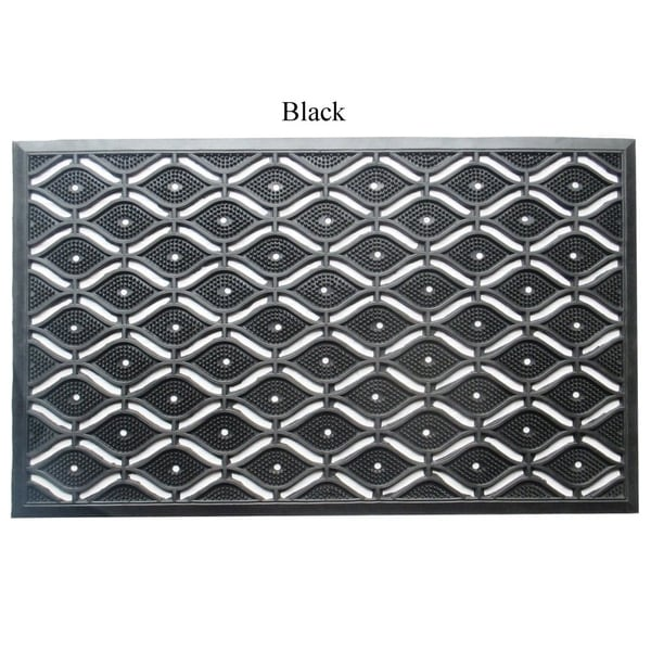 A1HC First Impression Eye Heavy Duty 22 In. X 36 In. 100% Rubber Mat with High Dirt Trapping and Anti-slip Features