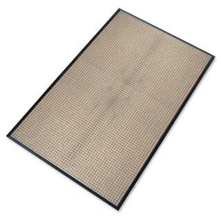 "A1HC First Impression Rub-Poly 48"" X 72"", Anti Slip Rubber backing,fabric finish Scraper Doormat (Beige)"