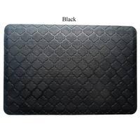 Solid Black Rubber Back Non Slip Door Mat Rug 1 6 X 2 6