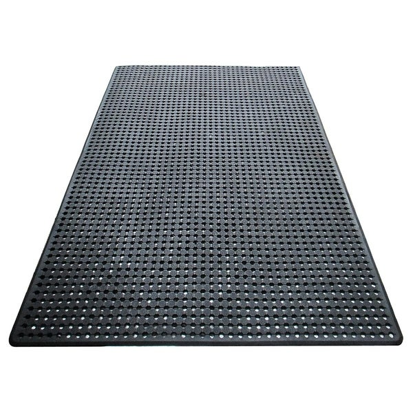 A1HC Checkered Pattern with Holes 48 In. X 72 In. Multi-utility Heavy Duty Commercial/Residential Mat