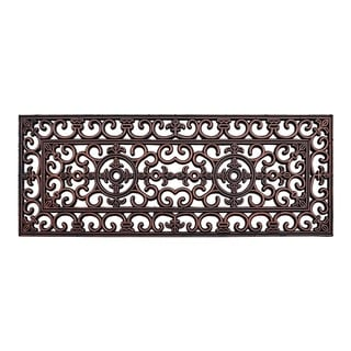 """A1HC Rubber Iron Copper Finished Elegant Large Double Doormat 18""""X48"""""""