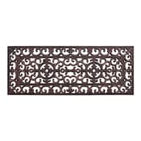 A1HC First Impression Rubber Iron 18 In. X 48 In. Copper Finished Elegant Large Double Doormat