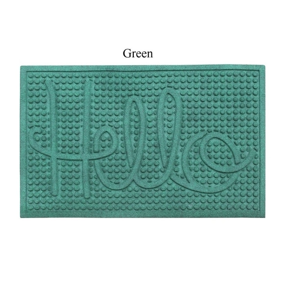 "A1HC First Impression HELLO 24"" X 36"" Eco-Poly Indoor/Outdoor Mat"
