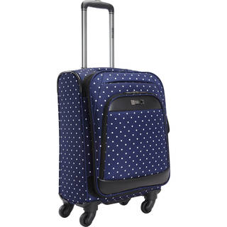 Kenneth Cole Reaction Dot Matrix 20-Inch Polka Dot Expandable Spinner Carry-On Suitcase