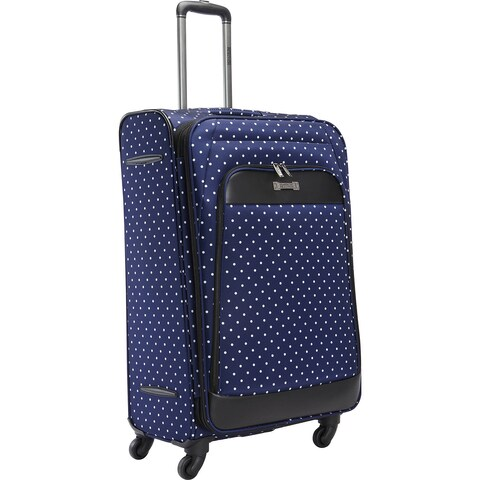 Kenneth Cole Reaction 28-inch Polka Dot Expandable 4-Wheel Spinner Checked Softside Suitcase