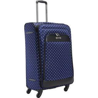 Kenneth Cole Reaction 28-inch Polka Dot Expandable Expandable Spinner Checked Suitcase