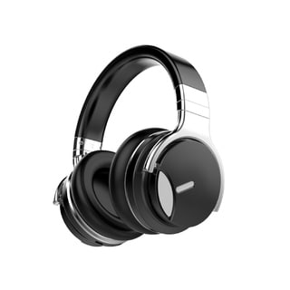 COWIN E7ANC Active Noise Cancelling Bluetooth Over-ear Headphones with Microphone, Hi-Fi Deep Bass, Supersoft Protein Earpads (Option: Black)