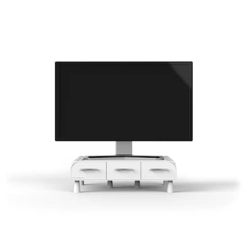 Mind Reader 'Perch' PC, Laptop, IMAC Monitor Stand and Desk Organizer, White