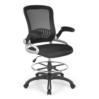Poly and Bark Hargrove Drafting Chair in Black