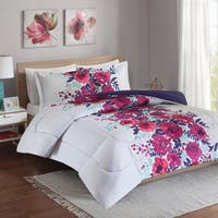 Intelligent Design Mina Purple Reversible 3-piece Comforter Set