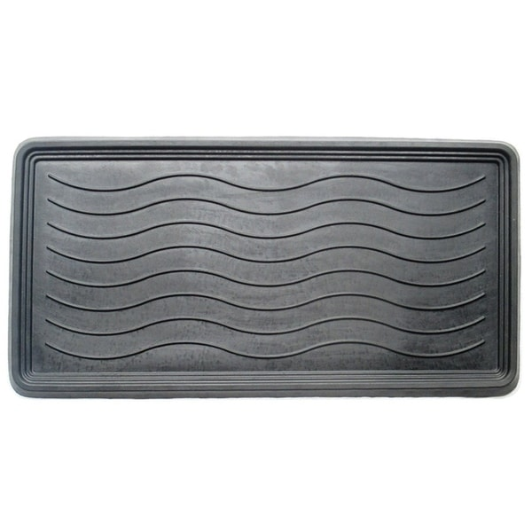 shop a1hc heavy duty flexible 16 in x 31 in 100 rubber boot tray mat free shipping on. Black Bedroom Furniture Sets. Home Design Ideas