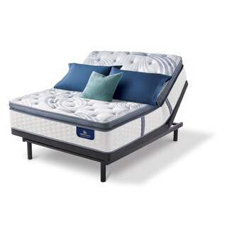 Serta 13-inch Brightmore Super Pillow Top Plush Queen-size Mattress Set with Adjustable Base