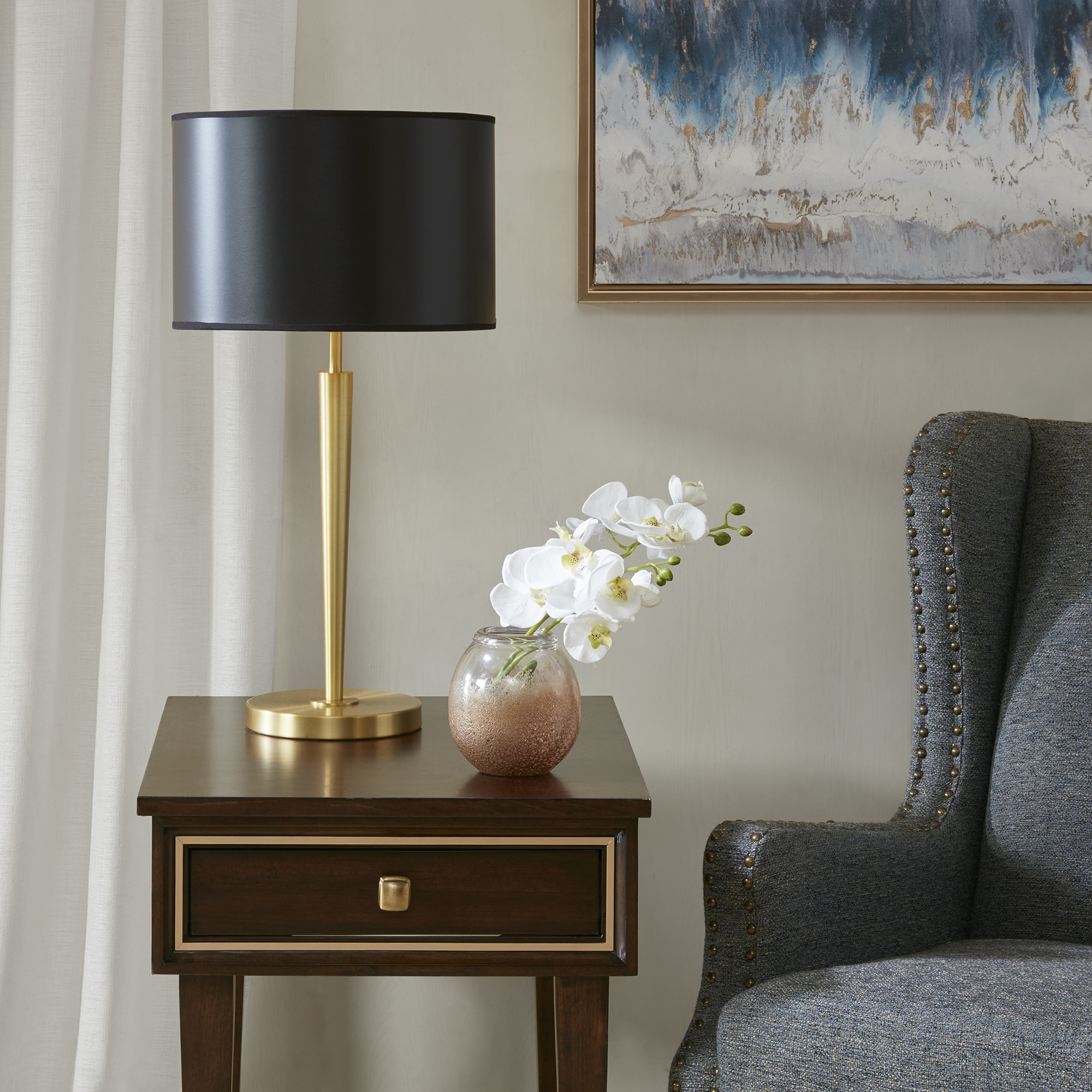 Madison Park Signature Buchanan Gold/ Black Table Lamp