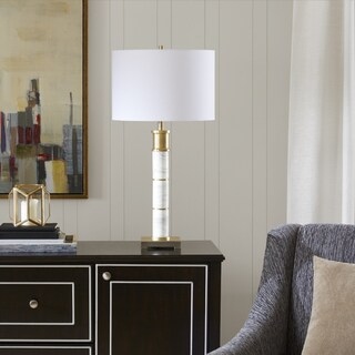 Madison Park Signature Adeline White/ Gold Table Lamp