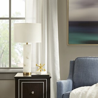 Madison Park Prague White Table Lamp