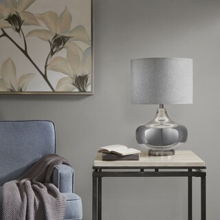 Madison Park Madera Silver Table Lamp