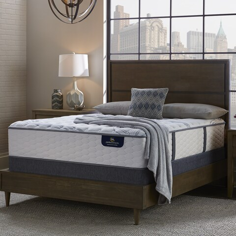 Serta 13-inch Glitter Light Firm Full-size Mattress Set with Adjustable Base