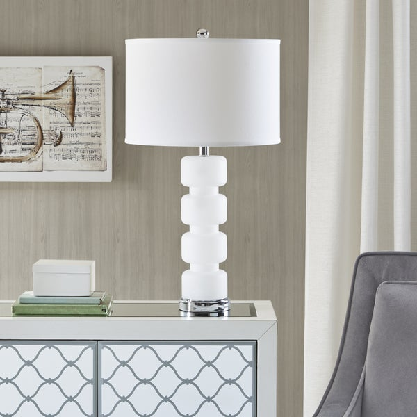Madison Park Emery White Table Lamp