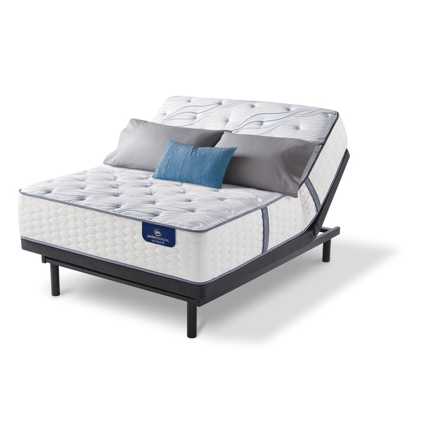 shop serta 13 inch norchester firm full size mattress set with adjustable base free shipping. Black Bedroom Furniture Sets. Home Design Ideas