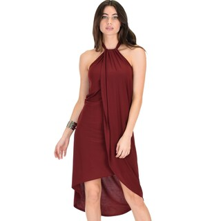 Lyss Loo Wrap Star Halter Midi Wrap Dress (More options available)
