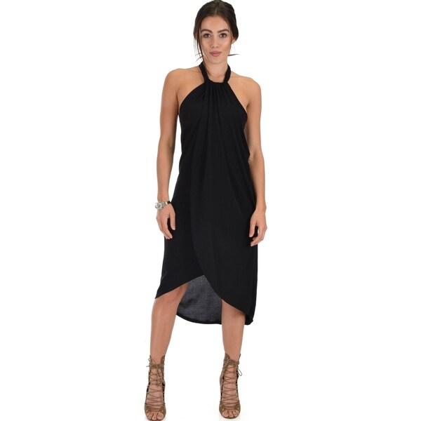 f937c1ab51472 Shop Lyss Loo Wrap Star Halter Midi Wrap Dress - Free Shipping On ...