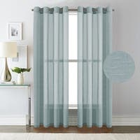 "H.Versailtex Linen Nickel Grommet Window Sheer Curtains 2-Pack - w52"" x l96"""