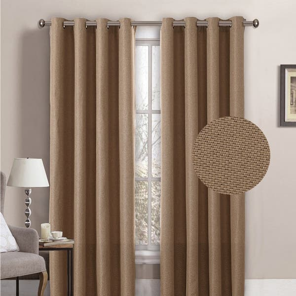 primitive textured thick linen burlap look fabric beige h versailtex room darkening linen curtain for bedroom living room extra wide blackout curtains 100 x 84 inches for patio glass door window treatments draperies filament