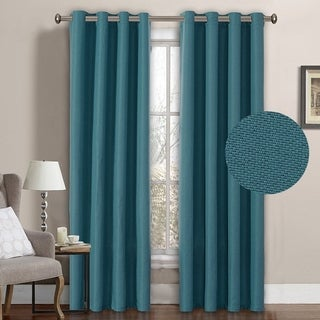 H.Versailtex Room Darkening Grommet Faux Linen Curtain Panel 1-Pack (More options available)