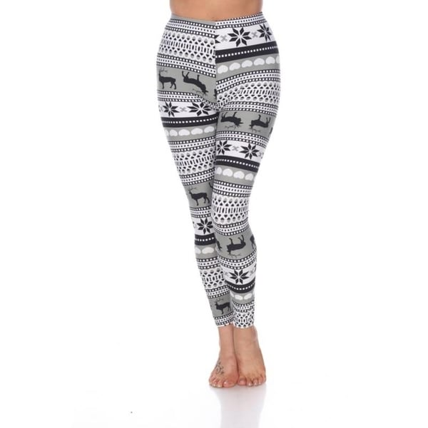 White Mark Women's One Size Fits Most Printed Leggings. Opens flyout.