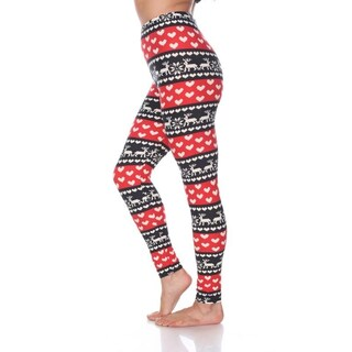 White Mark Women's One Size Fits Most Printed Leggings (2 options available)