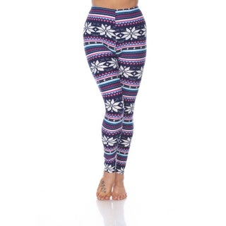 White Mark Women's One Size Fits Most Printed Leggings (4 options available)