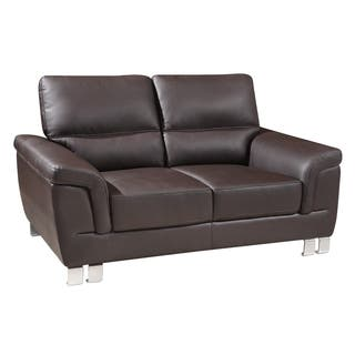 Global United Industries Watson Luxury Leather/Match Upholstered Living Room Loveseat|https://ak1.ostkcdn.com/images/products/18115439/P24270518.jpg?impolicy=medium
