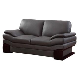 Global United Industries Ellington Luxury Leather/Match Upholstered Living Room Sofa