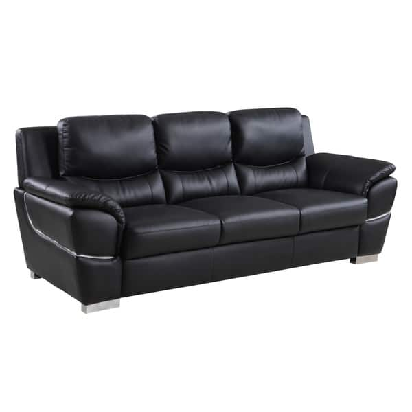 Excellent Global United Industries Wilson Luxury Leather Match Upholstered Living Room Sofa Creativecarmelina Interior Chair Design Creativecarmelinacom