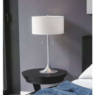 Highland Park Buena Vista 30-inch Brushed Steel Table Lamp