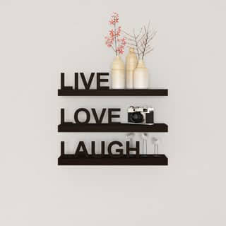 Porch & Den Montclair William Laminate 'Live, Love, Laugh' Inspirational Wall Shelves (Set of 3)|https://ak1.ostkcdn.com/images/products/18116173/P15150412.jpg?impolicy=medium