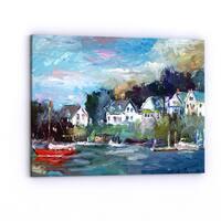 Porch & Den Richard Wallich 'Dock' Canvas Art