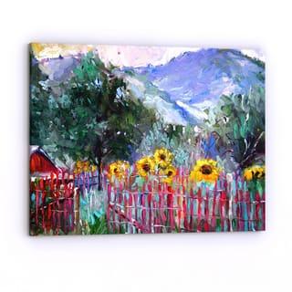 Copper Grove Richard Wallich 'Foothills' Canvas Art