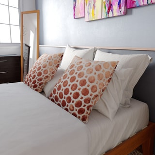 The Curated Nomad Nietos Copper Geometric 18-inch Feather and Down-filled Pillow