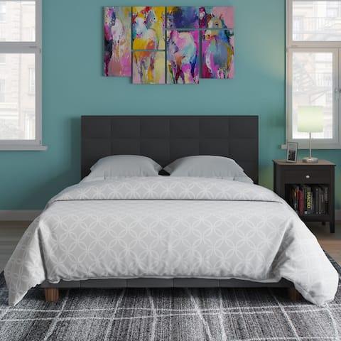 Wicker Park Claremont Linen Upholstered Bed