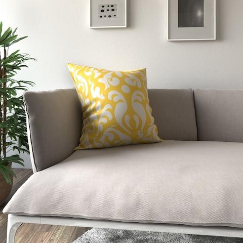 Porch & Den Bogard Bright Damask Throw Pillow