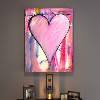 Porch & Den Zane Heartwork Zinnia Canvas Art
