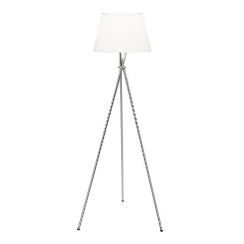 Carson Carrington Mausund 3-way 59-inch Brushed Steel Tripod Floor Lamp