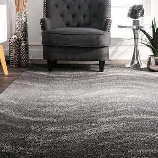 Porch & Den Williamsburg Rodney Grey Ombre Waves Area Rug - 10 x 14