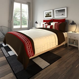 red bedroom set. Porch  Den Castro Levant 10 piece Comforter Set Red Sets For Less Overstock com
