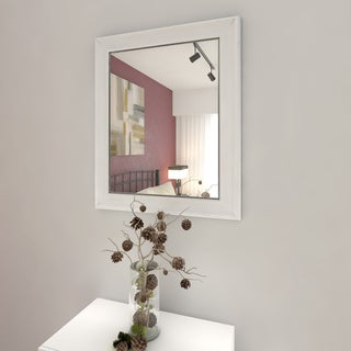 Porch & Den Homeland Enderly White 36 x 30-inch Wall Mirror